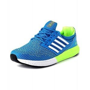 Vir Sport Blue Mesh Lace Up Running Shoes