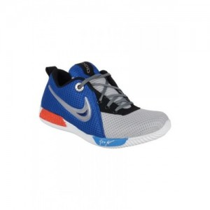 Aadi Enterprises Blue & Grey  Synthetic Lace Sports Shoes