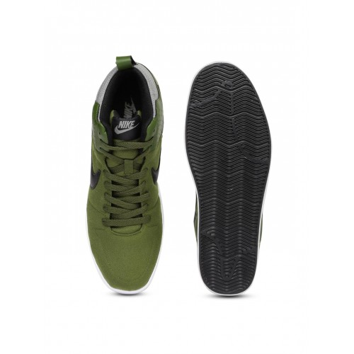 a88c8235ce86 Buy Nike Men Olive Green Liteforce III Mid-Top Sneakers online ...