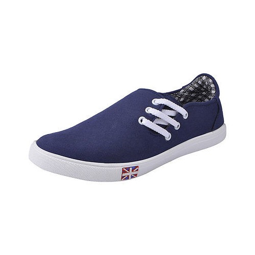 FAUSTO Navy Blue Men's Casual Side Lace up