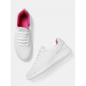 HRX by Hrithik Roshan Women White Textured Sports Shoes