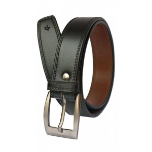 Discover Fashion Black Leather Formal Belt