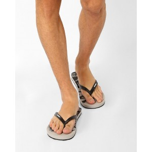 Sole Threads Gray Eagle Skull Thong-Style Flip-Flops