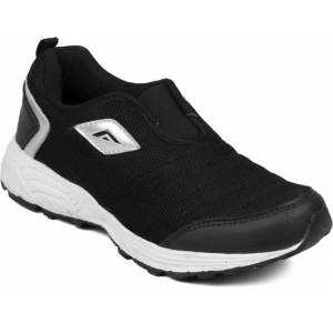 Asian Black Mesh Round Toe Running Shoes