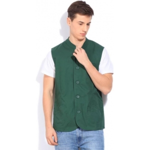 United Colors of Benetton Green Men's Nehru Jacket