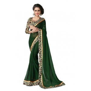Green Georgette Traditional Saree