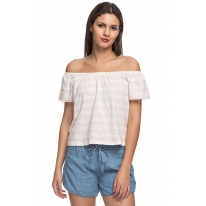 Cottonworld White Cotton Off Shoulder Top