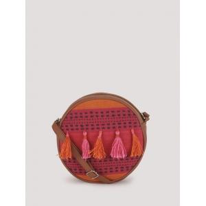 Paris Belle Multicolor PU Bohemian Round Sling Bag