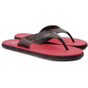 Puma Red Synthetic Slip-On Casual Flip Flops