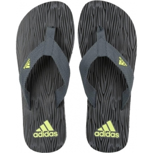 Adidas Gray Synthetic Slip-On Casual Slippers