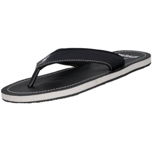 Stylar Black Synthetic Slip-On Casual Flip Flops