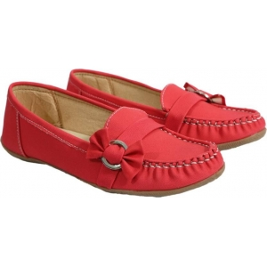 FashionPedia Red Slip-On Loafers