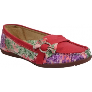 FashionPedia Red Printed Loafers