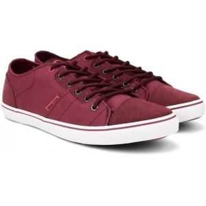 United Colors of Benetton Maroon Canvas Lace Up Sneakers