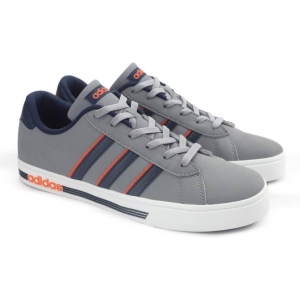 Adidas Gray Synthetic Leather Lace Up Sneakers