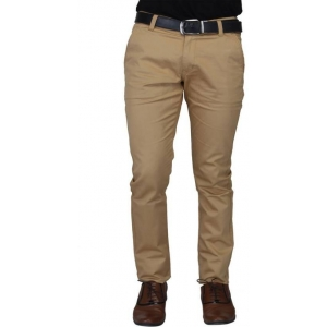 Nimegh Beige Solid Cotton Casual Trouser