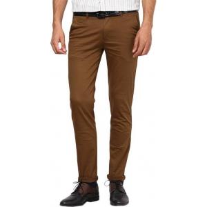 Inspire Slim Fit Men's Brown Trouser