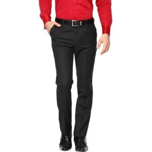 AD & AV Regular Fit Men's Black Trouser
