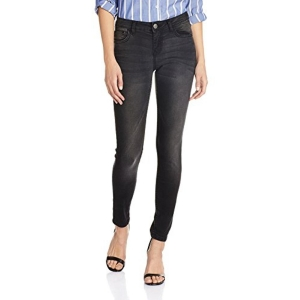 Newport Women's Black Washed Skinny Jeans