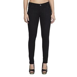 Cladien Women's Black Skinny Fit Jeans