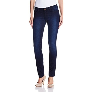 Jealous Club-21 Women's Blue Slim Fit Jeans