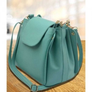 Deniza Green Leatherette Sling Bag
