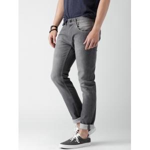 Mast & Harbour Men Grey Skinny Fit Stretchable Jeans