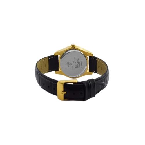 Maxima 29535LMLY Swarovski Gold Analog Watch for Women