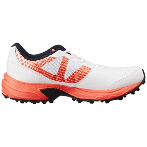 Puma Men's Illuminate Dp White & Orange Cricket Shoes