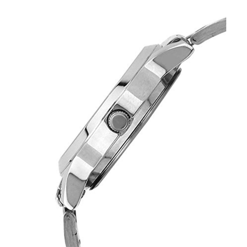 Maxima Swarovski 28020CMLI Silver Analog Watch