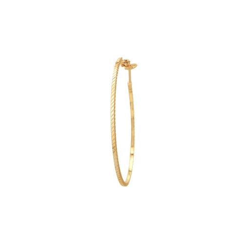 Adwitiya Collection gold copper hoop earring