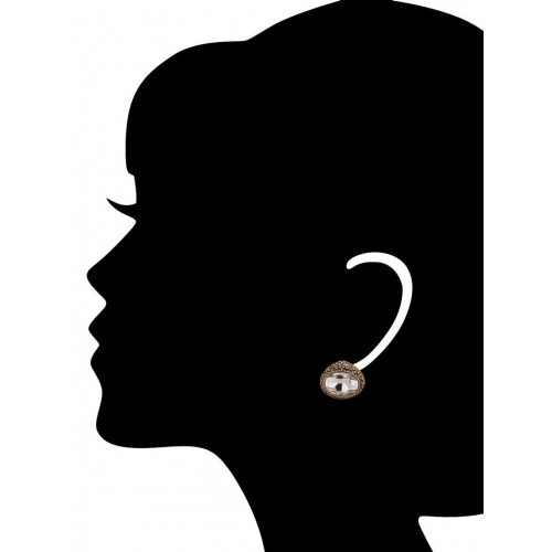 Adwitiya Collection antique gold copper studs earring