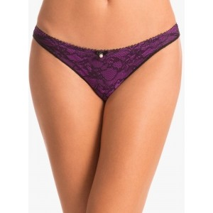 Prettysecrets Radiant Purple Scandalous Lacy Bikini