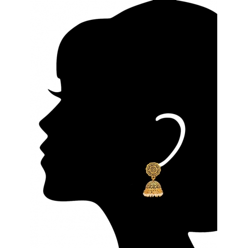 Adwitiya Collection gold copper other earring