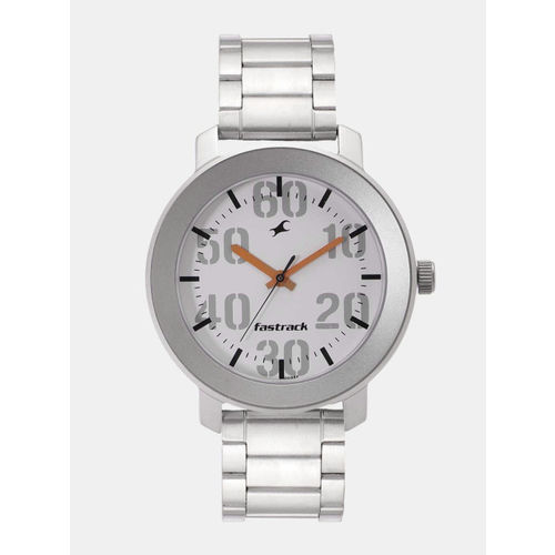 Fastrack White Analogu Round Watch