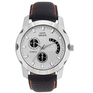 Louis Geneve Analogue White Dial Watch (LG-MW-B-WHITE-051)