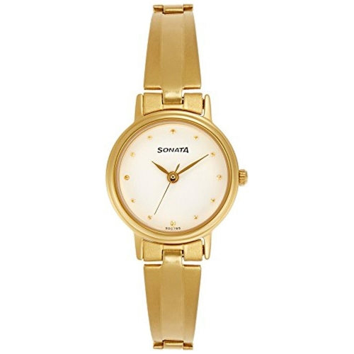 Sonata Analog White Dial Women's Watch