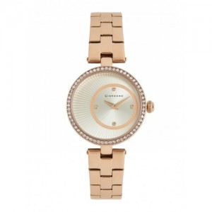 GIORDANO Women Silver-Toned Embellished Analogue Watch A2056-33