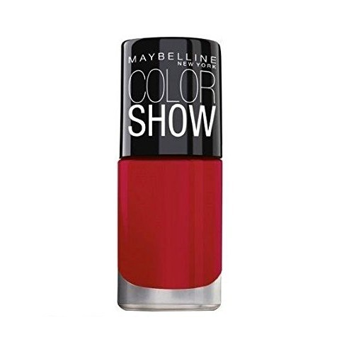Maybelline Color Show Nail Enamel, Downtown Red, 6ml