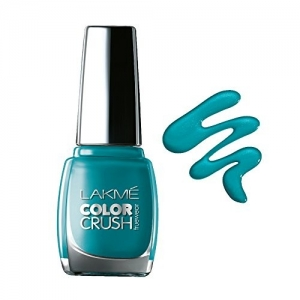 Lakme True Wear Color Crush Nail Color, Blue 27, 9ml
