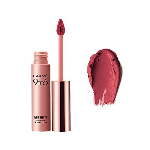 Lakme 9 to 5 Weightless Mousse Lip & Cheek Color  (Plum Feather)