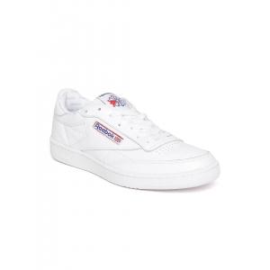 Reebok Classic Men White Club C 85 SO Leather Sneakers
