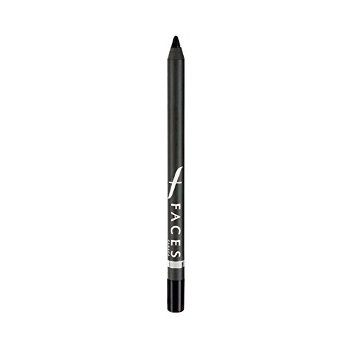 Faces Long Wear Eye Pencil, Solid Black 02, 1.2g