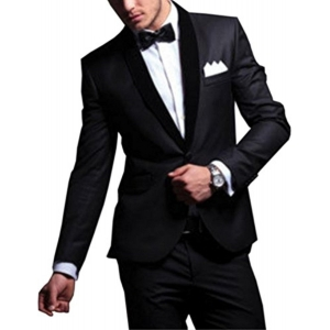 Bregeo Fashion Black Party Festive Evening Blazer