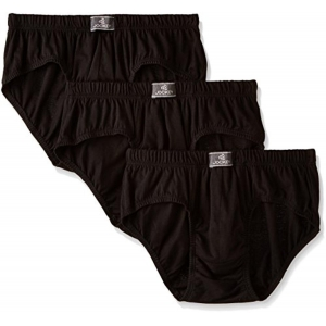 Jockey Black Cotton Brief (Pack of 3)