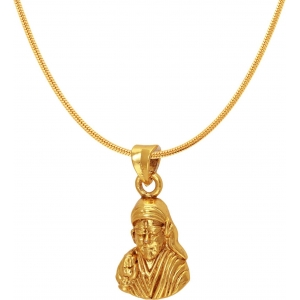 Mahi Sai Baba 24K Yellow Gold Alloy Brass Pendant