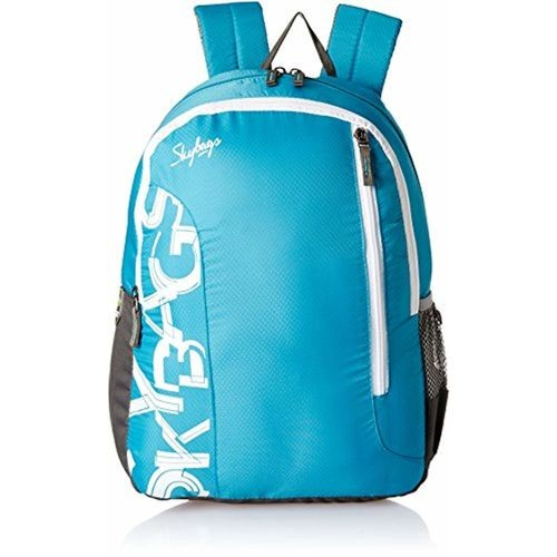 Skybags Blue Printed Casual Unisex Backpack