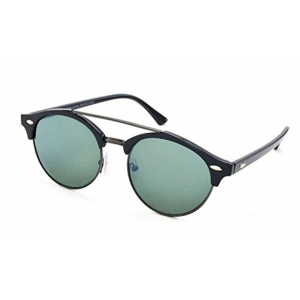 Stacle Double Bridge Clubmaster Round Sunglasses