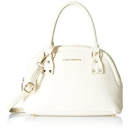 Lino Perros White Faux Leather Handbag