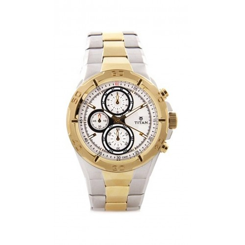 buy titan gold and silver chronograph watches online